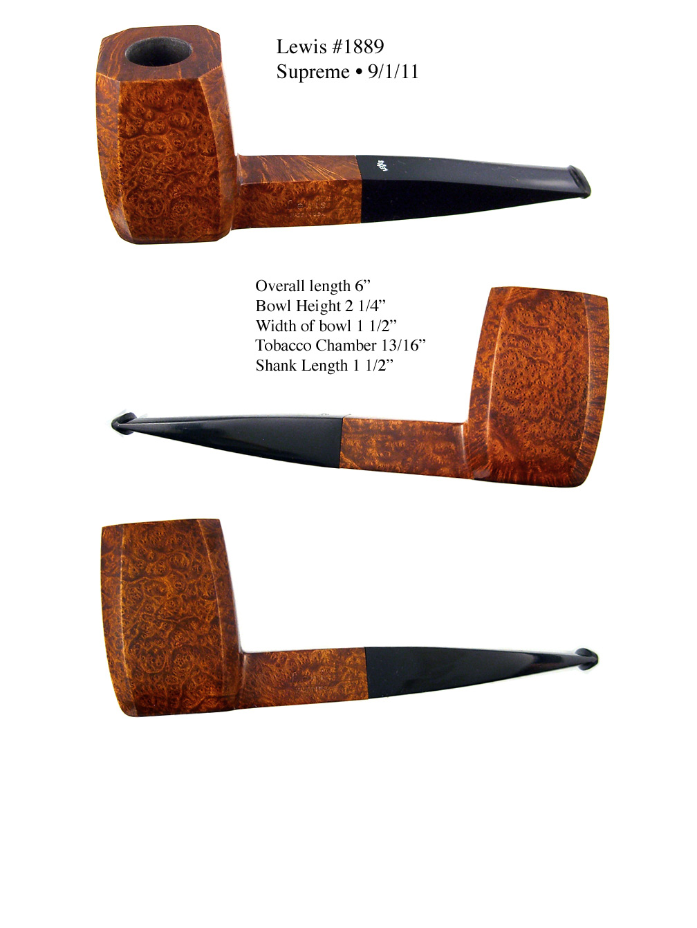 Rich Lewis Pipes #1888